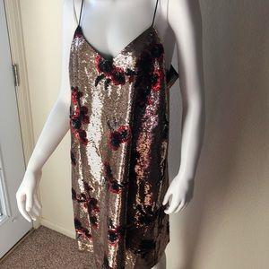 NWT San Edelman sequin cami dress 14